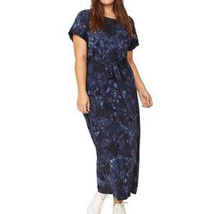 Sanctuary Blue Tie Dye Maxi Dress